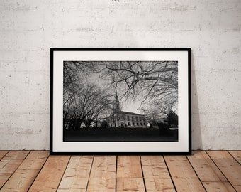 St Paul's Cathedral | Monochrome | Birmingham City Centre | UK | Photo Print