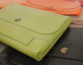 CLUTCH evening/bag/IPad Mini - leather & mixed colors Complement