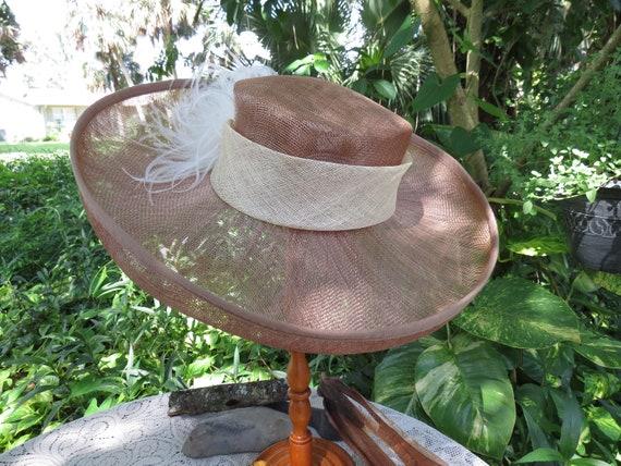 Fantastic Italian Straw Hat - Huge Runway Wide Bri