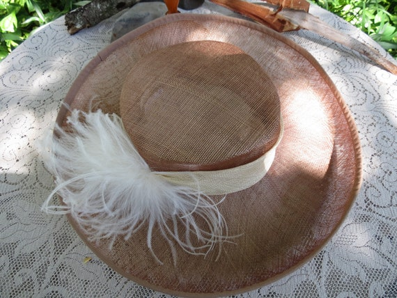Fantastic Italian Straw Hat - Huge Runway Wide Br… - image 7