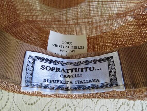 Fantastic Italian Straw Hat - Huge Runway Wide Br… - image 5