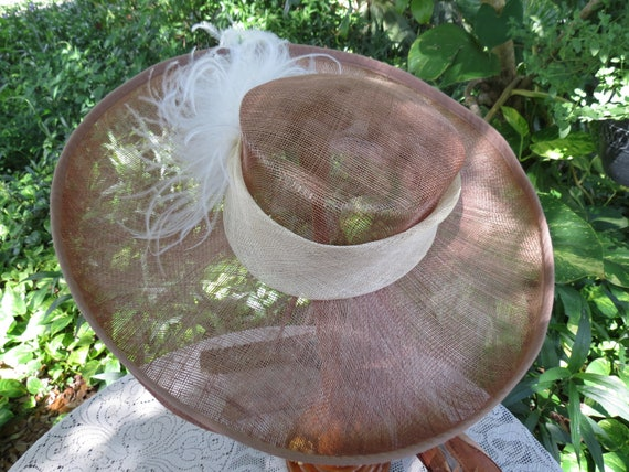 Fantastic Italian Straw Hat - Huge Runway Wide Br… - image 2