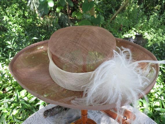 Fantastic Italian Straw Hat - Huge Runway Wide Br… - image 9