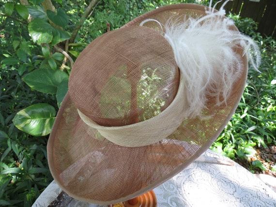 Fantastic Italian Straw Hat - Huge Runway Wide Br… - image 4