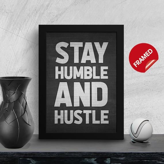 hustle motivational wall decor inspirational quotes prints