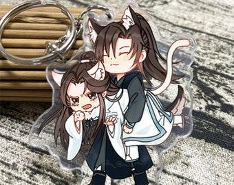 Chinese Novel Anime The Husky and His White Cat Shizun Chu WanNing Mo Ran Acrylic keychain standing gift