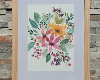 Bunch of Spring, Original Watercolor