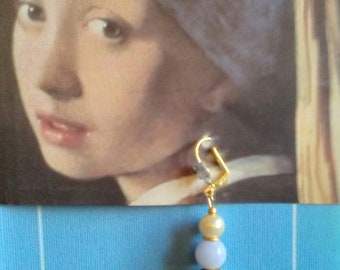 "The girl with a Pearl. ""Couture Collection"". Dangle earrings"