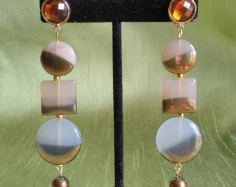 """Art Deco 3: Zelda. """"Couture"""" collection. These earrings."""