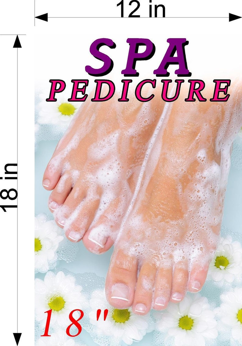Spa Xviii Pedicure Wallpaper Poster With Adhesive Backing Wall Sticker Decor Indoors Interior Sign Vertical
