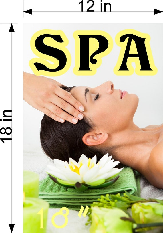 Spa Vi Wallpaper Poster With Adhesive Backing Wall Sticker Decor Indoors Interior Sign Vertical