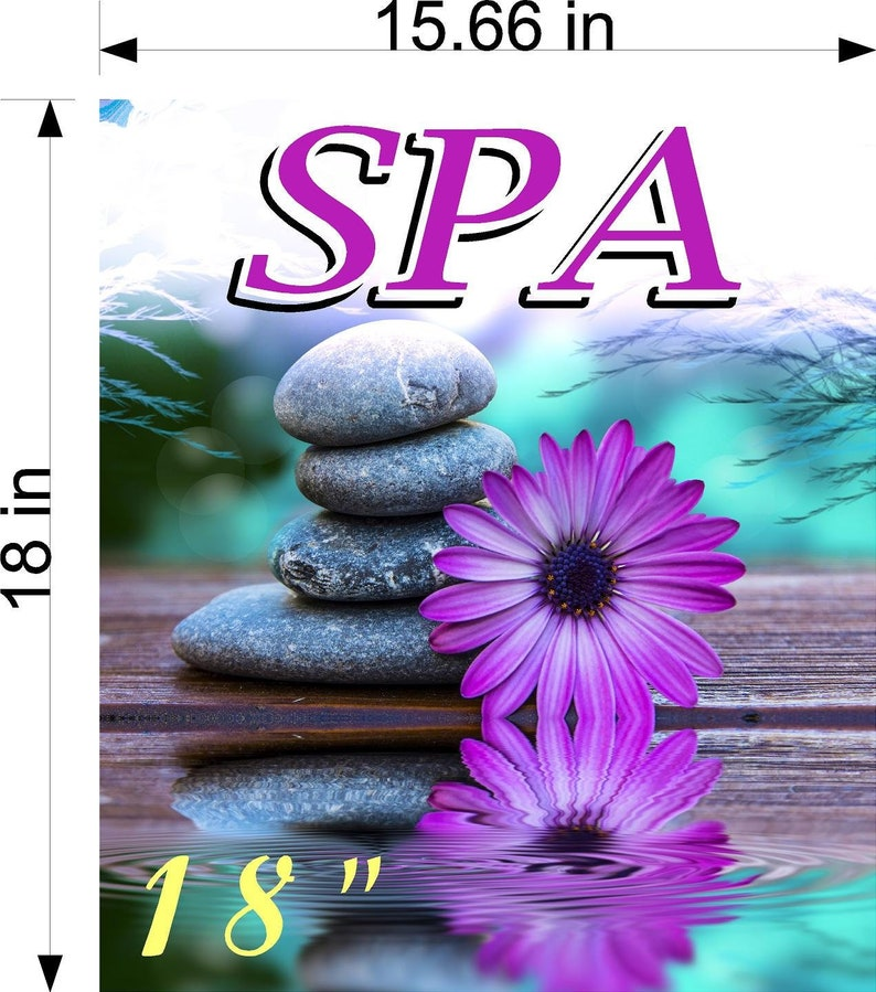 Spa I Pedicure Wallpaper Poster With Adhesive Backing Wall Sticker Decor Sign Vertical
