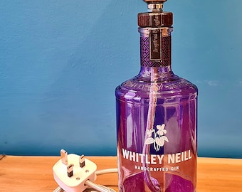 Whitley Neill Hand Decorated Glitter Fairy Light Gin Bottles Made To Order