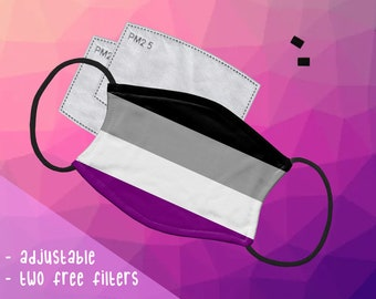 B GRADE Asexual Ace Pride Face Mask
