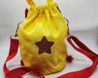 Bells Bucket Drawstring Bag with Shoulder Strap