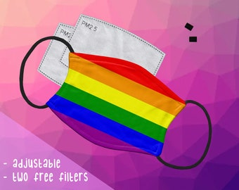B GRADE Gay Pride Rainbow Face Mask