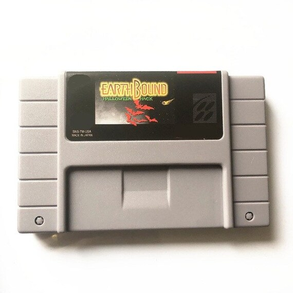 Earthbound Halloween Hack RPG - SNES Super Nintendo Cartridge Cart