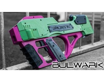 Bulwark Nerf Blaster full auto 'bullpup' top loading (Digital STL)