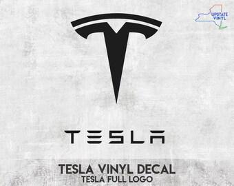 "Tesla Motors Logo 4.5/"" Shield Window Vinyl Car Decal Sticker Choose a Color"