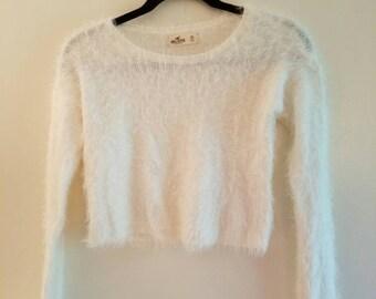 Fuzzy Bunny- Cropped sweater