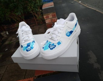 05942ed1b2d986 Bape Blue Camo Custom Air Force 1