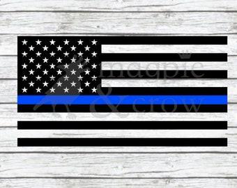 American Flag Thin Blue Line SVG, Police SVG, American Flag SVG, Police Officer Support, Distressed Thin Blue Line Svg, Blue Lives Matter