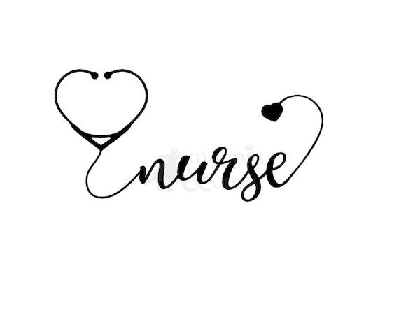 Nurse Svg Nurse Life Svg Nurse Stethoscope Svg Nursing Svg Etsy