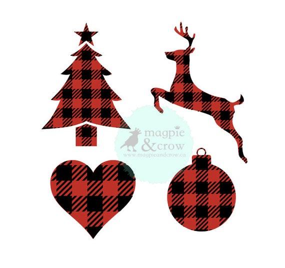 Buffalo Plaid Svg Buffalo Plaid Christmas Svg Reindeer Svg Etsy