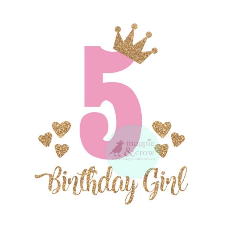 5th Birthday SVG Fifth Birthday SVG 5th Birthday Girl SVG ... (794 x 798 Pixel)