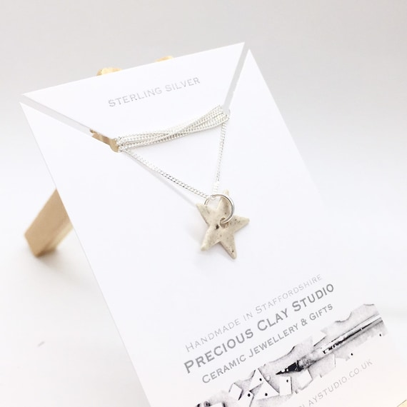 Star Pendant Cream- Sterling