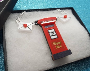Postbox necklace
