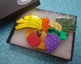 Fruit brooch