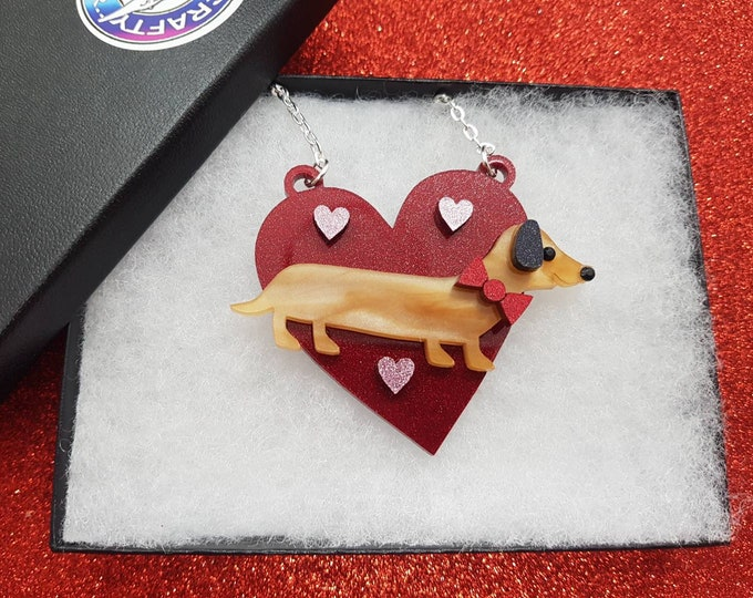 Featured listing image: Dachsund necklace