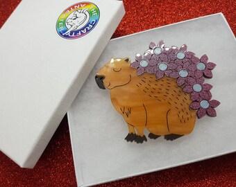 Capybara brooch