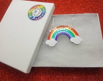 Small rainbow Necklace