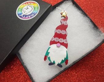 Festive Gnome Necklace
