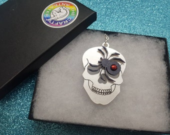 Skull and Spider necklace