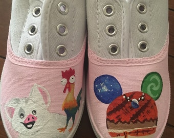 Moana Style Hand Painted Shoes