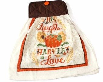 Pot Holder Top Thanksgiving Harvest Kitchen Towel