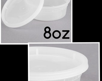 10 No LEAK containers for slime- BPA free 5-8oz and 5-12oz