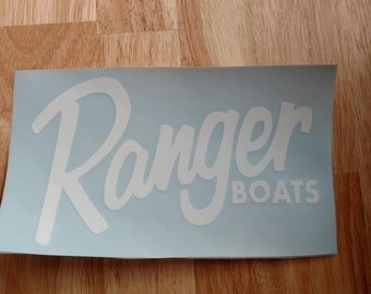 431389f3 Ranger Boats Vinyl Decal 14 colors and 11 sizes to choose Sticker Car Truck  Boat Phone Laptop Decal Window Sticker Kayak Decal