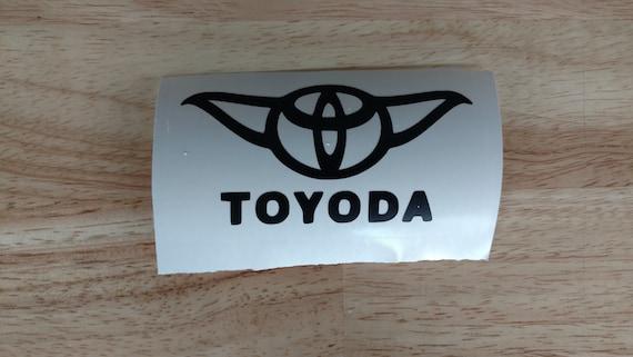 4 x Toyoda Toyota Yoda Star Wars vinyl sticker//decal Car window Laptops Truck