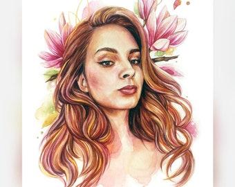 Personalized  Portrait Custom  portrait Watercolor Original Painting Custom watercolor  portrait