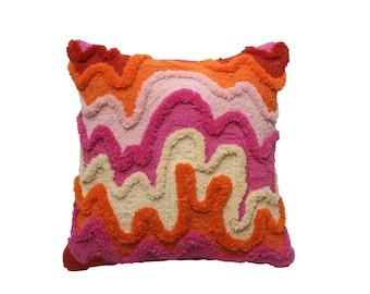 Handmade Tufted Wool Cushion