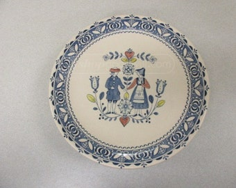Johnson Brothers Staffordshire Old Granite Hearts and Flowers Pattern Dinner Plate