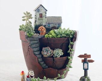 1:12 Dollhouse Miniature Potted House Plant Miniature Garden BD A012