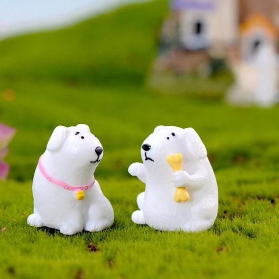3Pcs Mini Resin Bear Do Miniatures Terrariu s