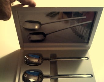 new mikasa flatware set 7and5/8