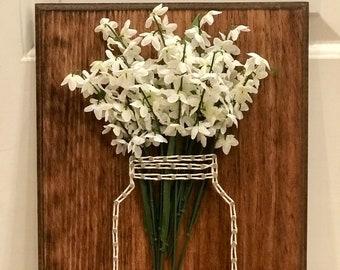 String Art w/ Flowers