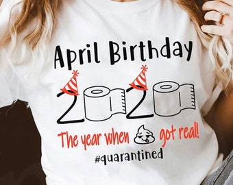 April Birthday Etsy